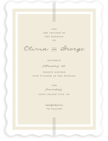Three Classic Lines Wedding Invitations