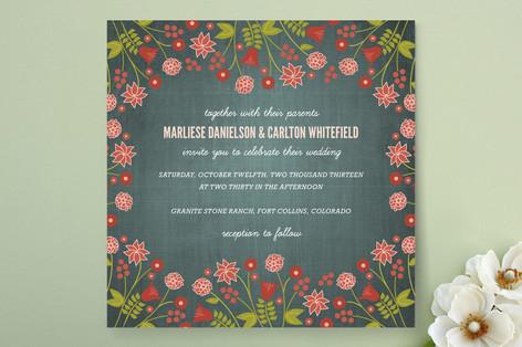 Serendipity Floral Wedding Invitations