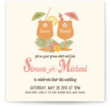 Tiki Luau Wedding Invitations