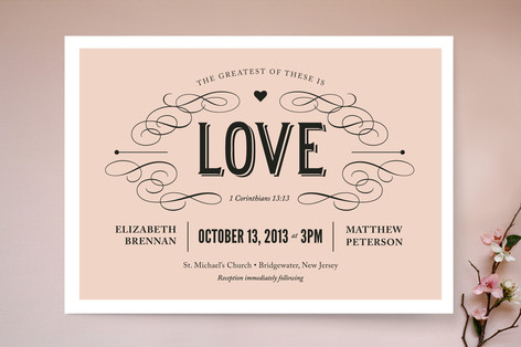 Greatest of These Wedding Invitations