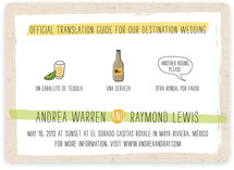 Translation Destination Wedding Invitations