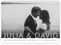 Minimalist Display Wedding Invitations
