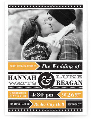 Poster Gig Wedding Invitations