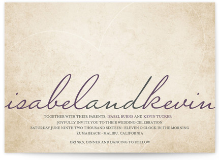 Light Hearted Wedding Invitations