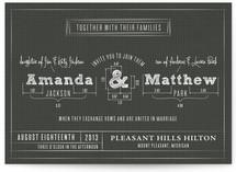 Blueprint Wedding Invitations