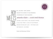 Boy Meets Girl Wedding Invitations