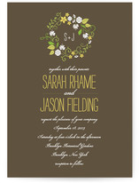 A Bloomin' Wreath Wedding Invitations