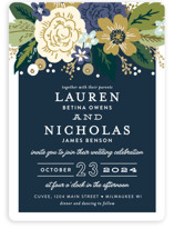 Classic Floral Wedding Invitations
