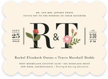 Cottage Rose Wedding Invitations