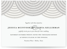 draped Wedding Invitations