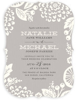 Floral Silhouette Wedding Invitations