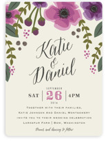 Garden Blooms Wedding Invitations