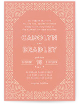 Geometric Border Wedding Invitations