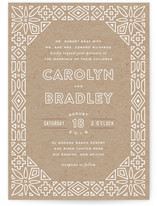 Geometric Border Wedding Invitations