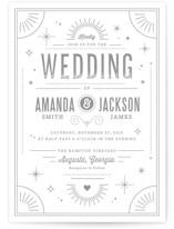 Golden Glitz Wedding Invitations