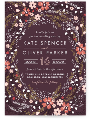 Grand Fleur Wedding Invitations