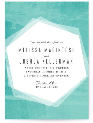 Hex Wash Wedding Invitations