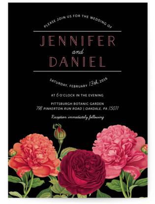 Romantic Botanic Wedding Invitations