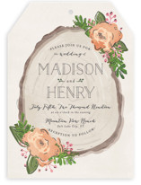 Rustic Wooded Romance Wedding Invitations