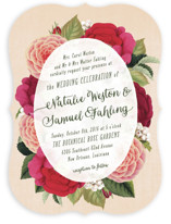 Vintage Botanicals Wedding Invitations