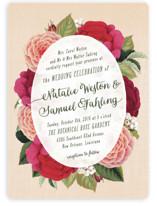 Vintage Botanicals Wedding Invitations