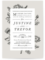 Vintage Caslon Wedding Invitations