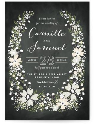Wildflower Bouquet Wedding Invitations