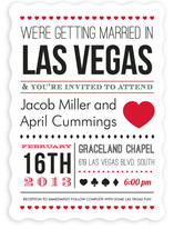 Vegas Type Wedding Invitations