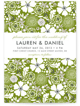 Simple Floral Wedding Invitations