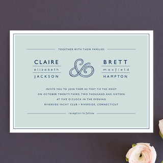Rope Ampersand Wedding Invitations