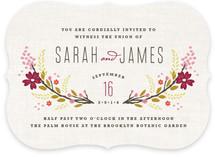 Botanical Blooms Wedding Invitations