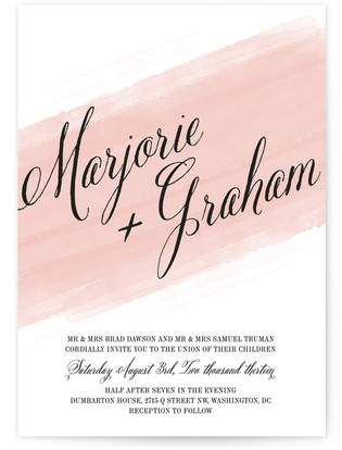 Awash Watercolor Wedding Invitations