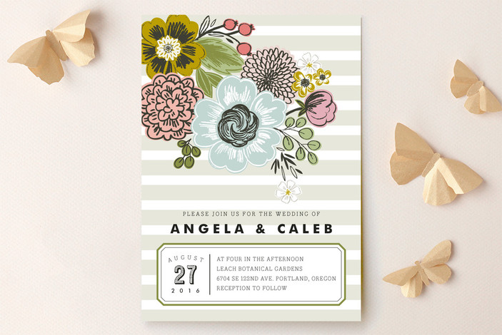"""Seed Packet"" - Hand Drawn, Floral & Botanical Wedding Invitations in Sand by Alethea and Ruth."
