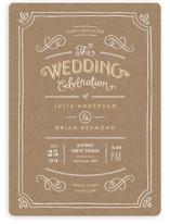 Hand Delivered Wedding Invitations