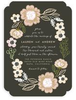 Botanical Wreath Wedding Invitations