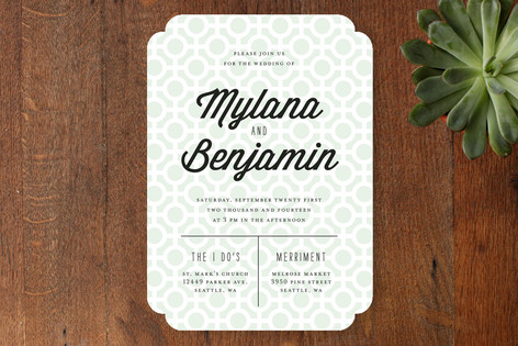 Mod Dots Wedding Invitations