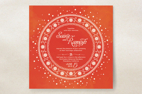 Indian Unity Wedding Invitations