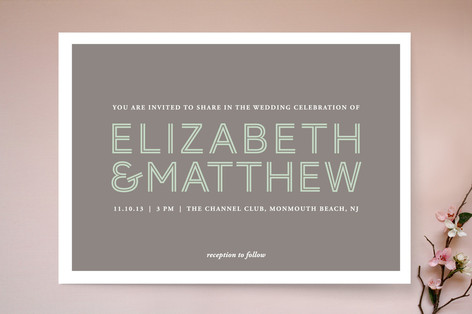 His and Hers Wedding Invitations