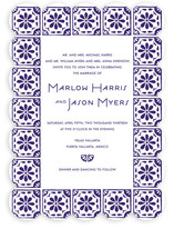 Block Printed Tile Wedding Invitations