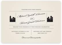 Skyscaper Wedding Invitations