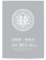 Double Happiness Seal Wedding Invitations