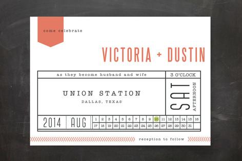 Ticket to Love Wedding Invitations
