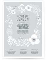 Winter Florals Wedding Invitations