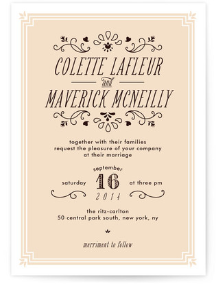 Chamade Wedding Invitations
