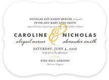 Delicate Ampersand Wedding Invitations