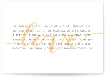 Modern Love Wedding Invitations