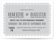 Eyelet Wedding Invitations