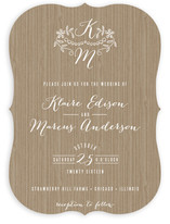 Woodland Initials Wedding Invitations