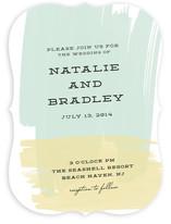 Bold Brushstrokes Wedding Invitations