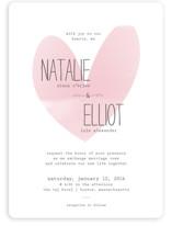 Typewritten Heart Wedding Invitations
